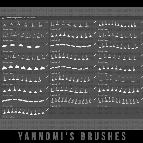 Yannomi's Brushes - bra pack