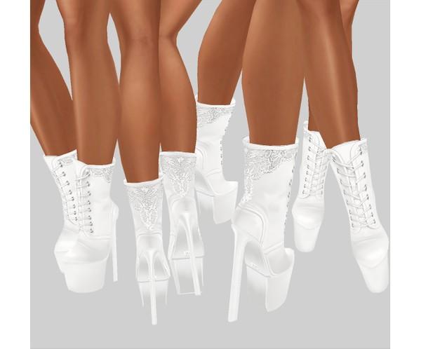 IMVU file sales - white lace - boots 2