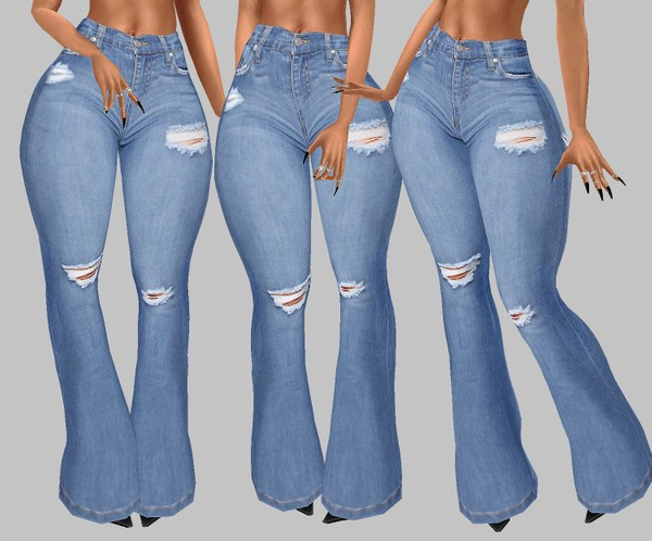 IMVU file sales: hd bottoms - flare jeans