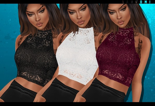 IMVU 2018: lace halter top