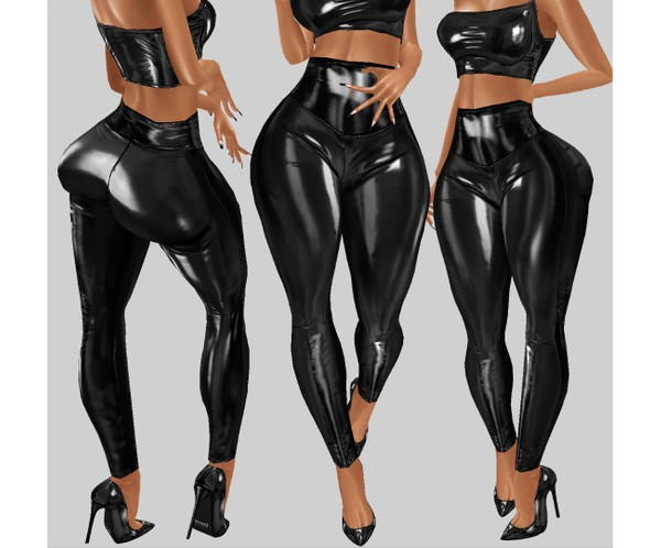 IMVU file sales - latex highwaist bottom