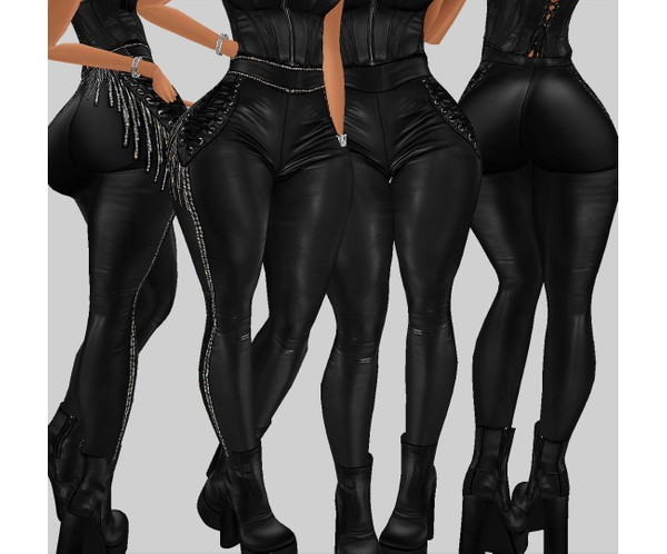 IMVU file sales - leather & rhinestones - sis3d bottom v1