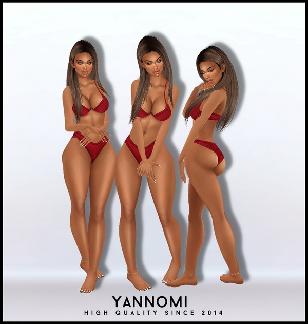 IMVU FILE SALES 2019: bikini set - red v2