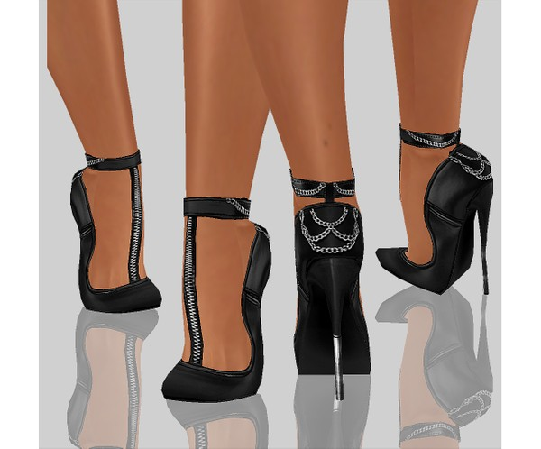 IMVU file sales - LEATHER - zipped heels