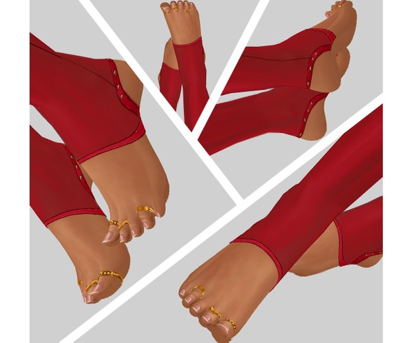 IMVU file sales - lace red stockings feet part