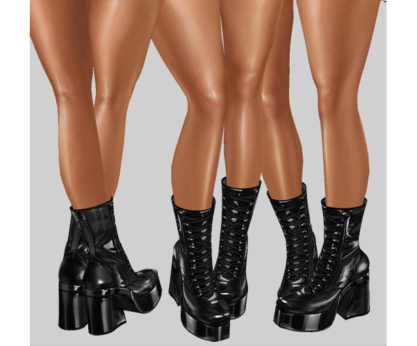 IMVU file sales - latex combat boots
