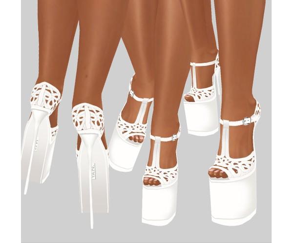 IMVU file sales - white lace - boots 5