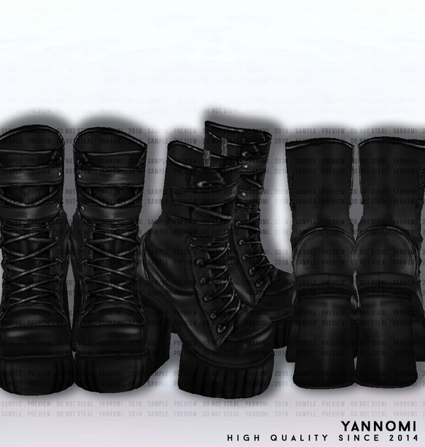 IMVU FILE SALES 2019: Fall Collection | Leather Boots v.2