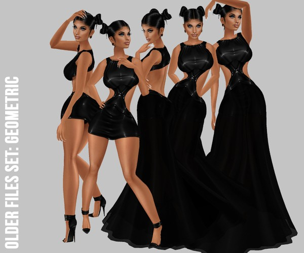 IMVU file sales: geometric dress v.1