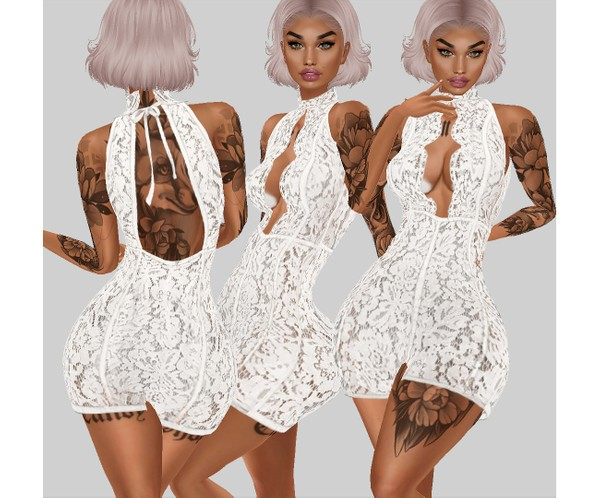 IMVU file sales - white lace - dress 2