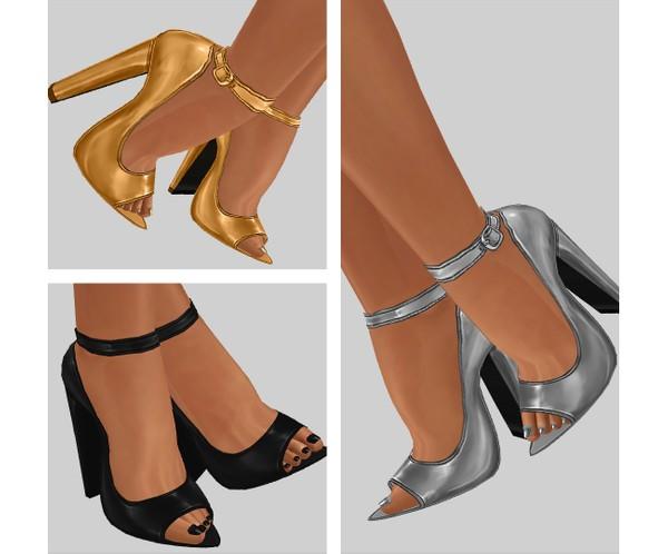 IMVU file sales - METALLIC - heels #3
