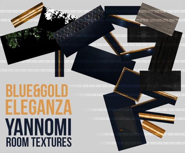 YANNOMI IMVU FS: blue & gold eleganza