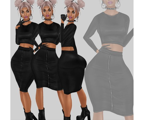 IMVU file sales - LEATHER - full outfit