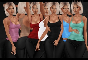 IMVU 2018: basic tank tops