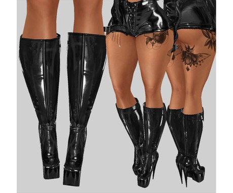 IMVU file sales: vinyl collection - high boots