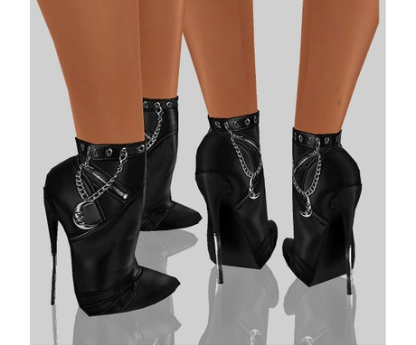 IMVU file sales - LEATHER - chained heels