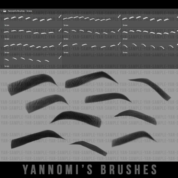 Yannomi's Brushes -  eyebrows