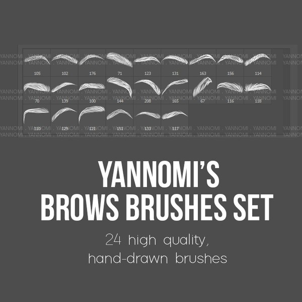 HD Photoshop Brushes - Brows Set