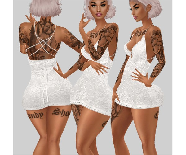 IMVU file sales - white lace - dress 4