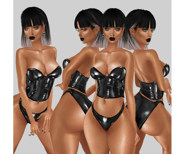 IMVU file sales - latex corset top
