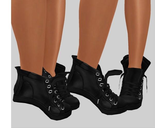 IMVU file sales leather -  converse boots