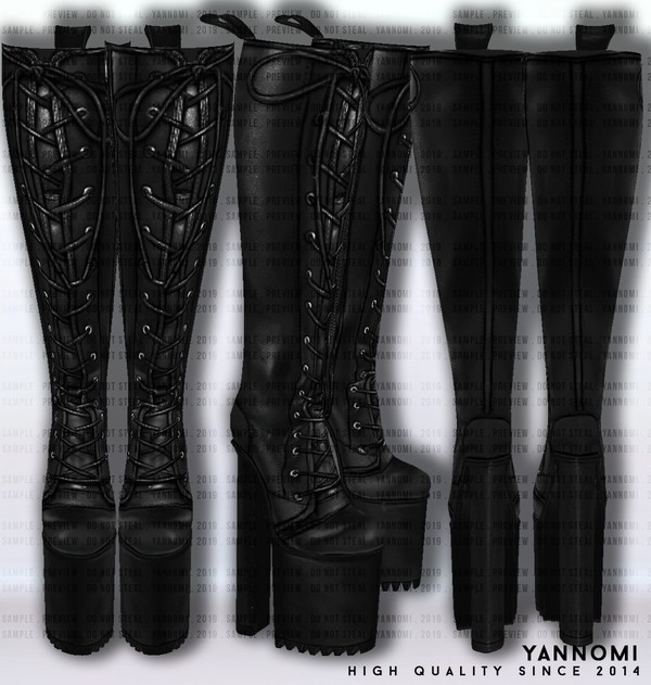 IMVU FILE SALES 2019: Fall Collection | Leather Boots v.3