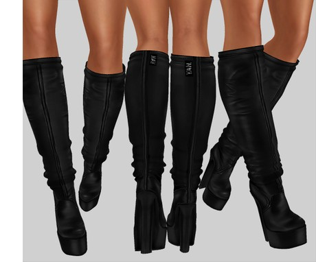 IMVU file sales leather -  high boots