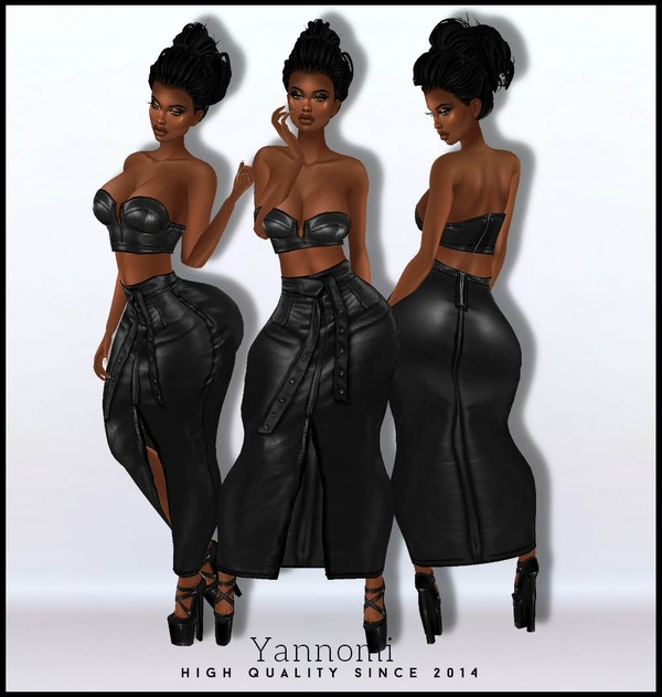 IMVU FILE SALES 2019: latex maxi skirt