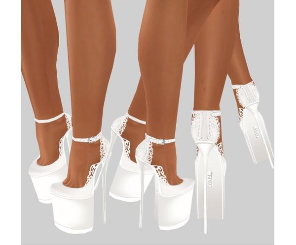 IMVU file sales - white lace - boots 4