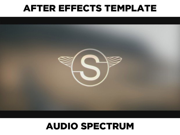 [After Effects Template] Clean Blur Audio Visual / Spectrum