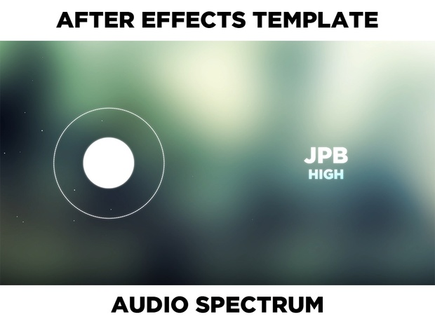 [After Effects Template] Simple white glow Audio Visual / Spectrum