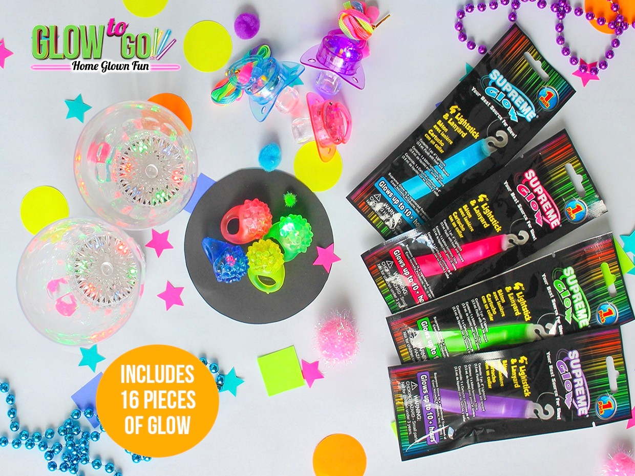 Family Glow Box (includes 16 glow items)