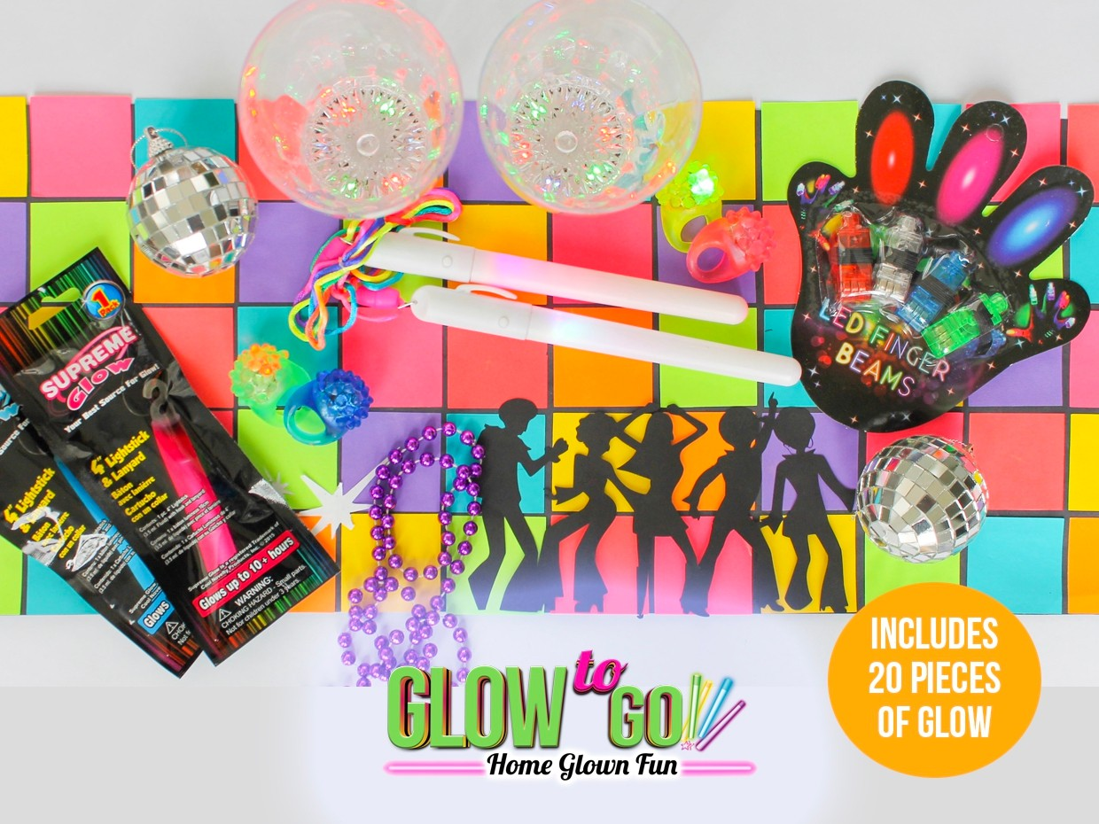 Disco Family Glow Party Box  (includes 20 glow items)