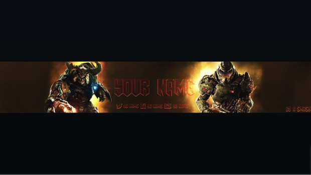 DooM Free YouTube Banner Template