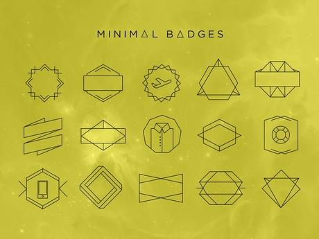 MINIMAL DESIGN BADGES (VECTOR , SVG, PSD)