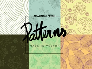 AMAZINGLY FRESH VECTOR PATTERNS!