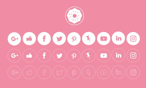 FREE CLEAN AND SIMPLE SOCIAL MEDIA ICONS