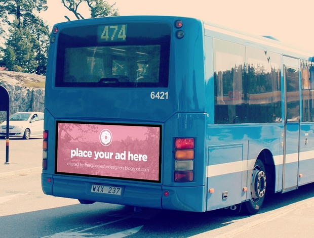 Bus billboard Mockup in Photoshop