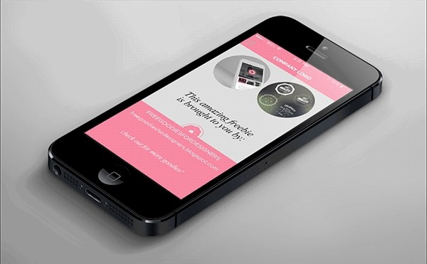 FREE PHOTOSHOP ANIMATED MENU FOR A MOBILE SITE PRESENTATION