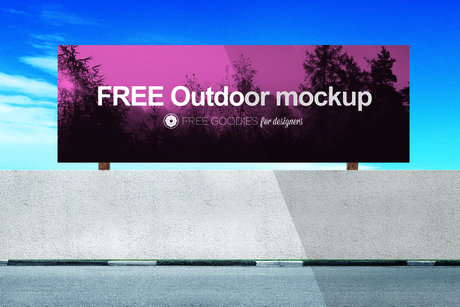 FREE BILLBOARD MOCKUP IN PSD (with smart layers)