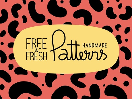 7 FREE FRESH HANDMADE PATTERNS IN VECTOR