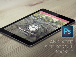 IPAD SCROLL DOWN ANIMATION IN PHOTOSHOP