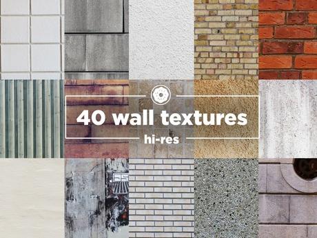 40 Hi-res wall textures Pack