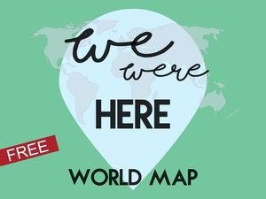 World Map Watermark.We Were Here World Map Visited Countries