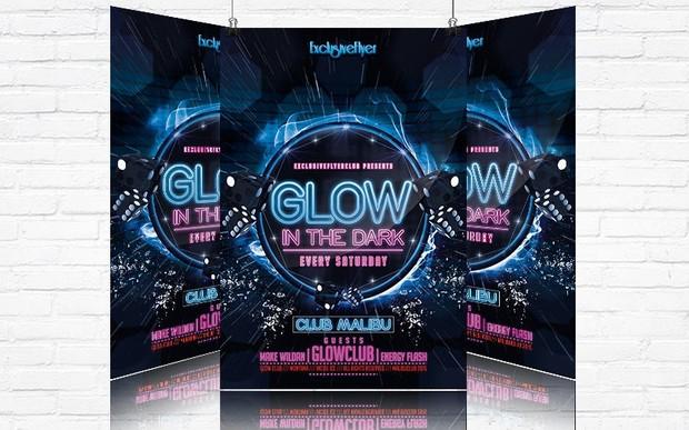 Glow Party – Premium Flyer Template
