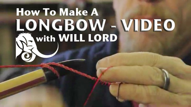 How To Make A Longbow.  A video tutorial by Master Bowyer Will Lord. 1hr 25mins. © Will Lord 2014.