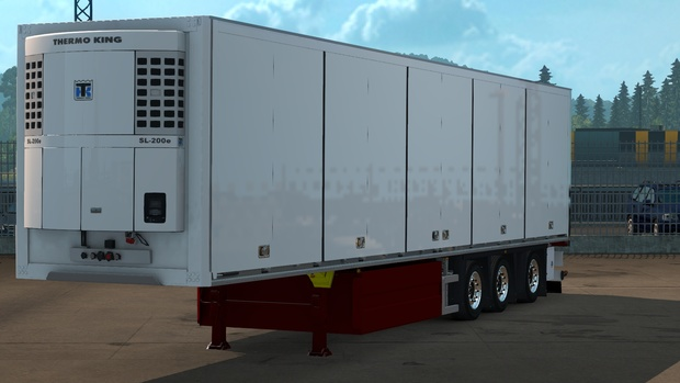 Schmitz trailer with distante axle