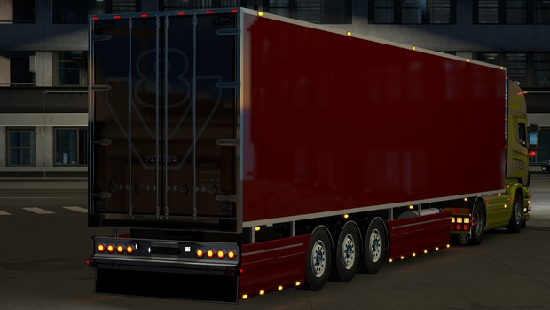 Ekeri trailer with sidekirt scania