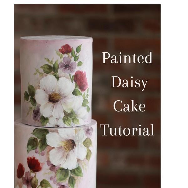 Painted Daisy Cake Tutorial