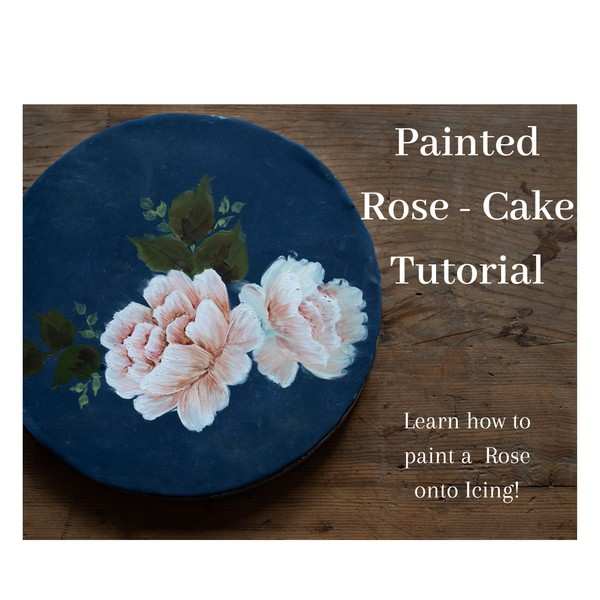 Painted Rose Tutorial - Painting with Cocoa butter